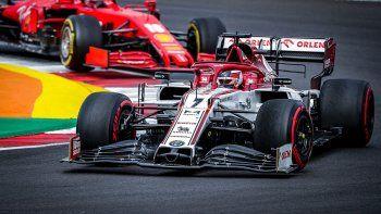 Kimi Räikkönen avanzó diez lugares en la primera vuelta del GP de Portugal.