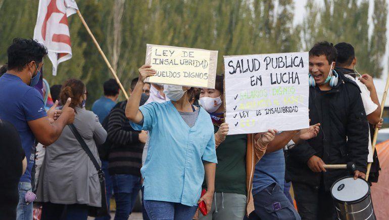 Salud protestó con cortes en el tercer puente
