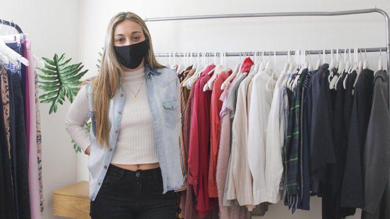 Una cipoleña apuesta todo por la moda sustentable en plena pandemia