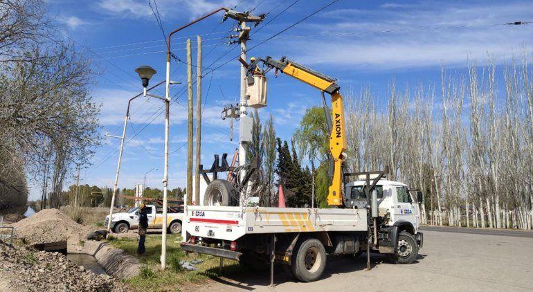 Habrá cinco cortes de energía en Cipolletti por tareas de Edersa