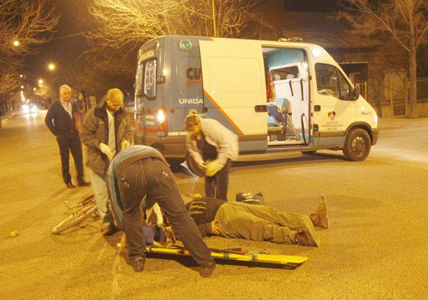 Accidente de tránsito en Urquiza y Belgrano