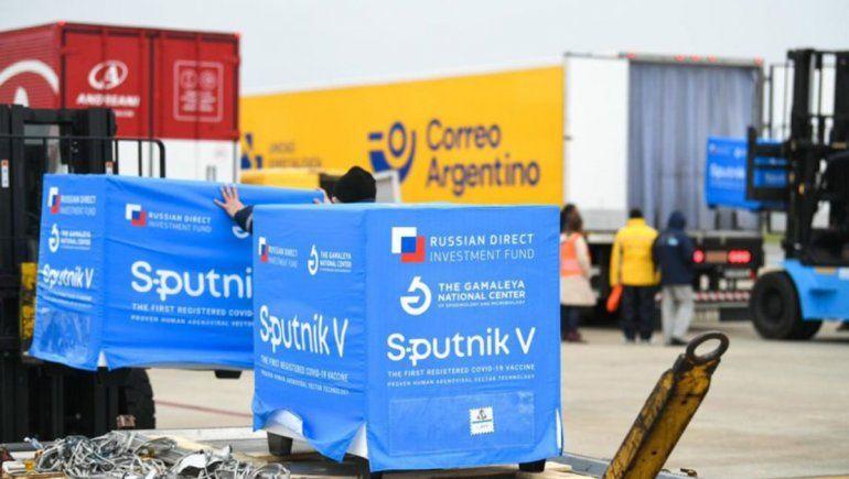 Covid-19: llegan más vacunas Sputnik V a Río Negro