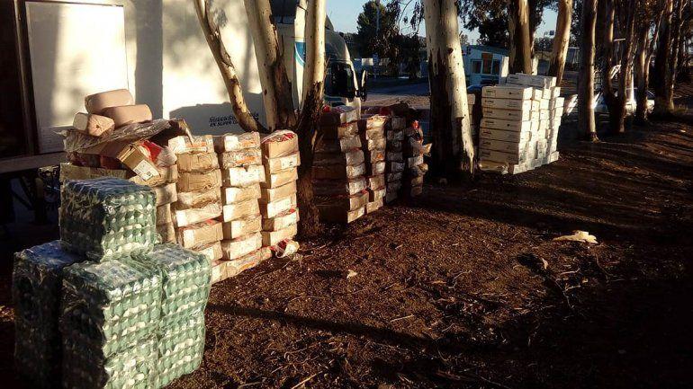 El Senasa decomisó 2,7 toneladas de comida y 735 docenas de huevos