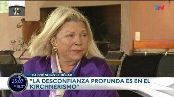Carrió disparó contra los Kirchner: Néstor era un psicópata