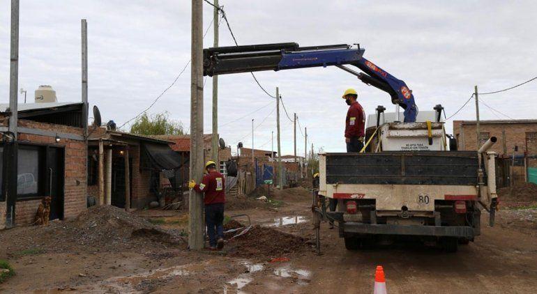 Avanzan a buen ritmo las obras eléctricas en Barrio Obrero