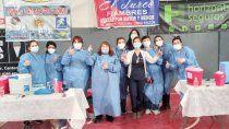 covid-19: exitosa jornada de vacunacion en cinco saltos