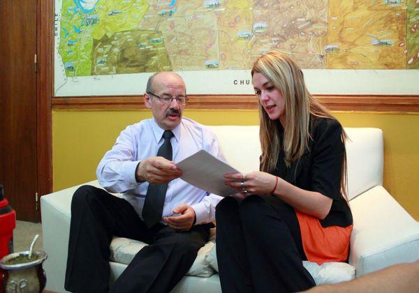 Di Giácomo se reunió con la Defensora del Pueblo, Nadina Díaz
