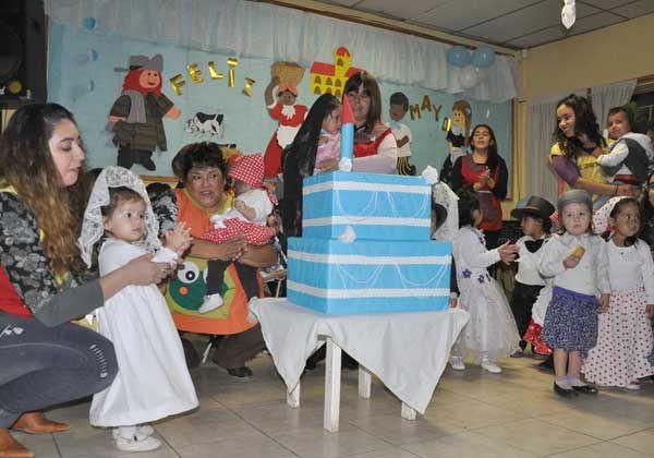 Festejo en centro infantil de las 1.200