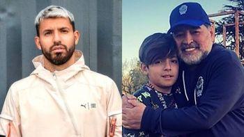 Kun Agüero habló sobre la muerte de Maradona y el dolor de Benjamín