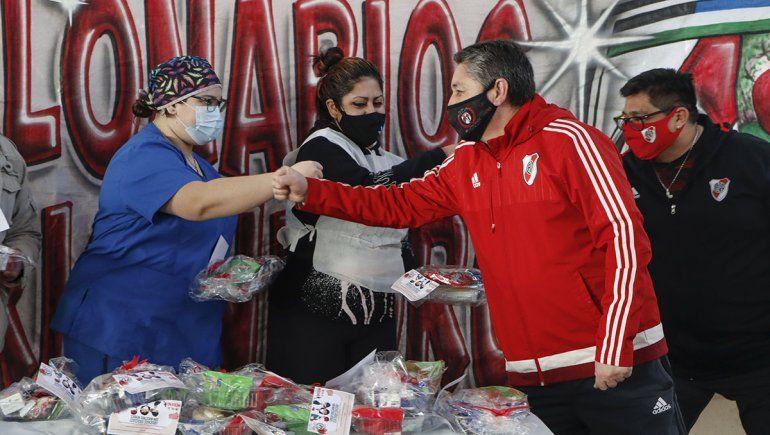 Hinchas de River Plate Millonarios sorprendieron a todos con un gol de merienda