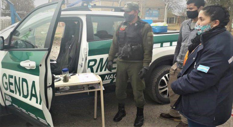 Gendarmería controlaba la cuarentena y encontró marihuana