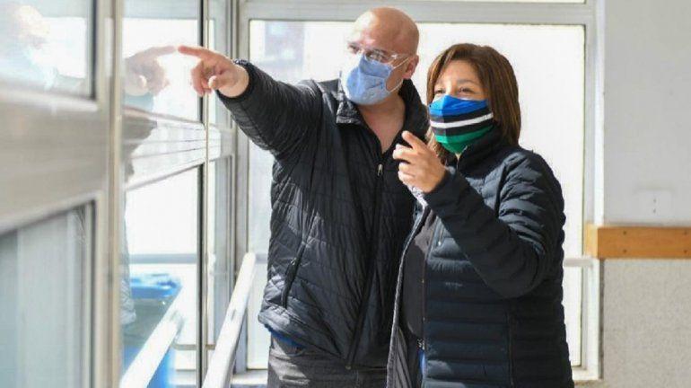 Carreras analizó la situación sanitaria y el reinicio de obras en el hospital de Bariloche