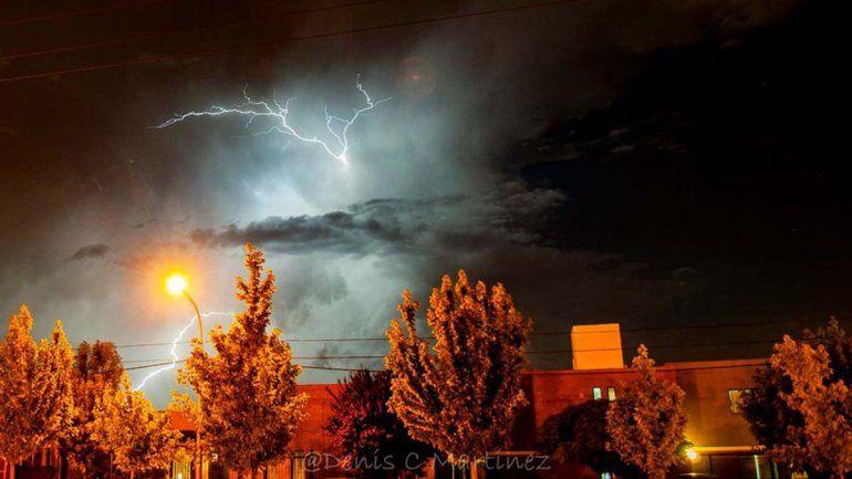 Alerta por tormentas eléctricas en el Alto Valle