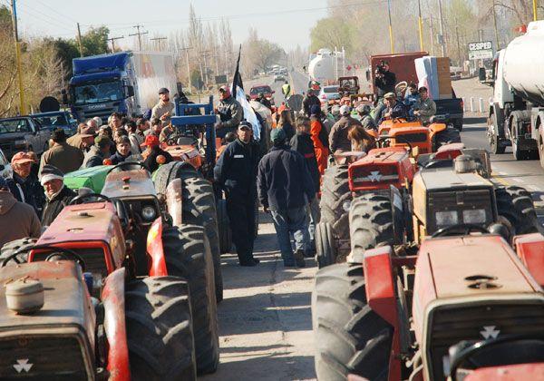 Otra marcha de tractores en la ciudad