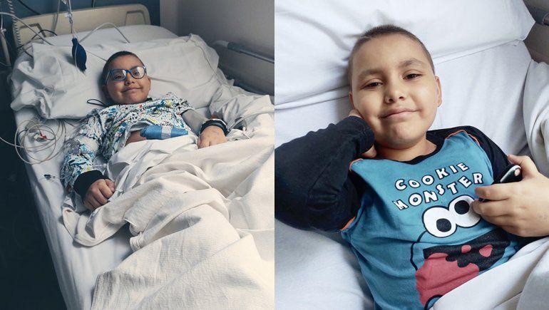 Valentín recibió el trasplante de médula y se recupera junto a su familia