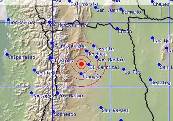 Mendoza y Chile se sacudieron por tres sismos
