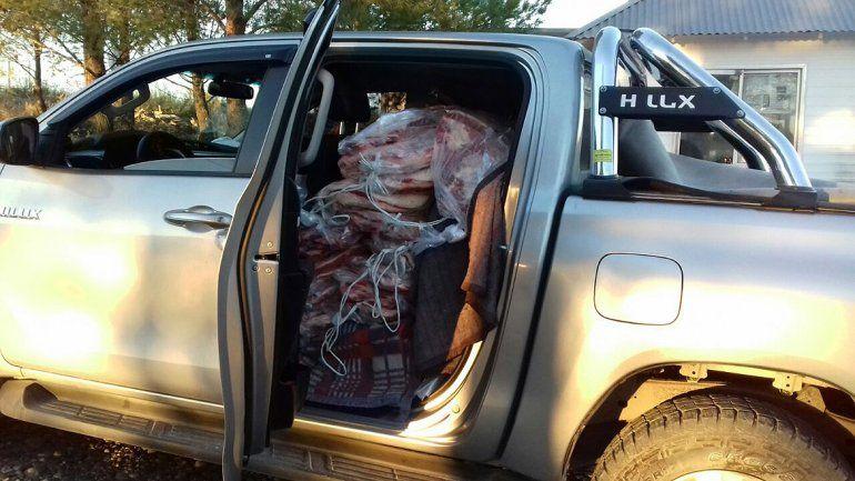 Quiso aprovechar las Pascuas para contrabandear carne y lo atraparon con 85 costillares