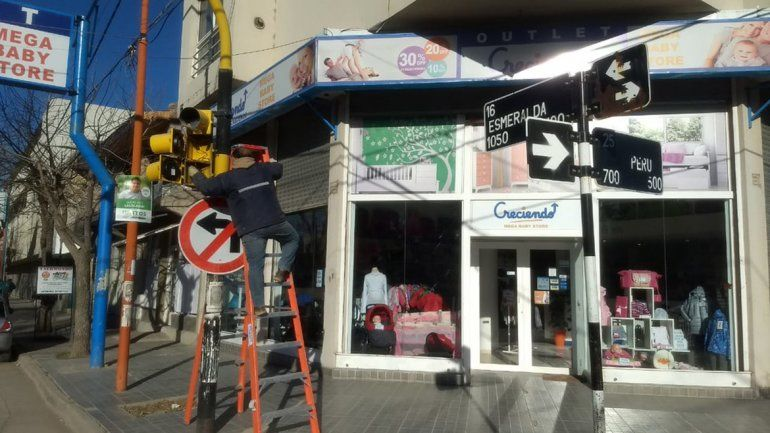 Fuerte inversión en la señalización vial en la ciudad