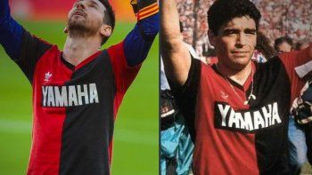 El gol de Messi, un calco al de Maradona en su debut en Newells
