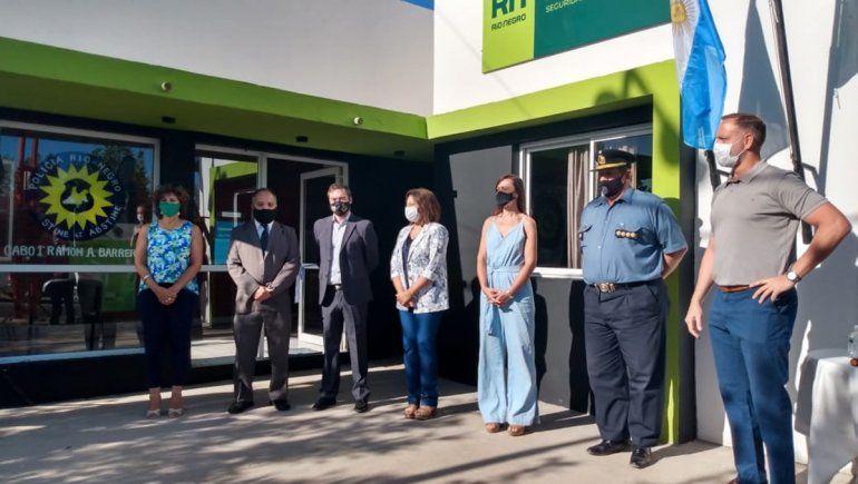 Inauguraron la central de monitoreo y vigilancia de Fernández Oro
