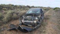 susto sobre la ruta 151: impacto contra un camion y se salvo de milagro