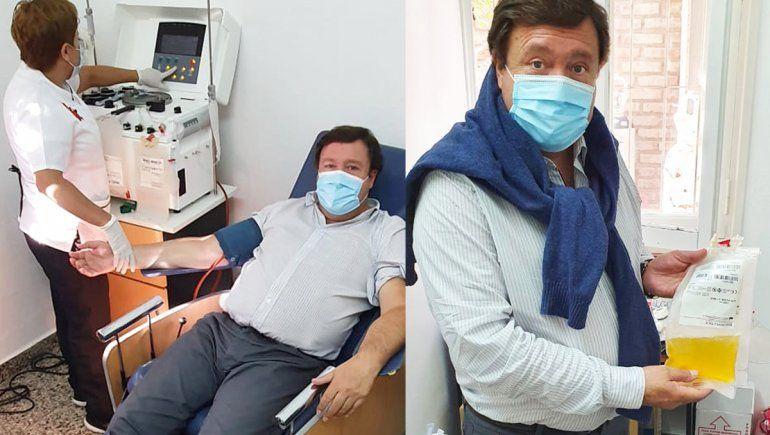 Alberto Weretilneck donó plasma convaleciente