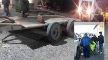 camion volcador arrastro a empleado municipal y sufrio graves lesiones
