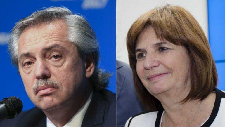 Fernández y Bullrich, cara a cara por la polémica de las vacunas