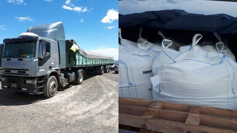 Incautaron 55 toneladas de carbonato de sodio en San Antonio Oeste