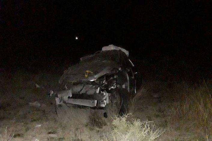 Fatal vuelco en Ruta 151: murió una mujer y hay tres heridos