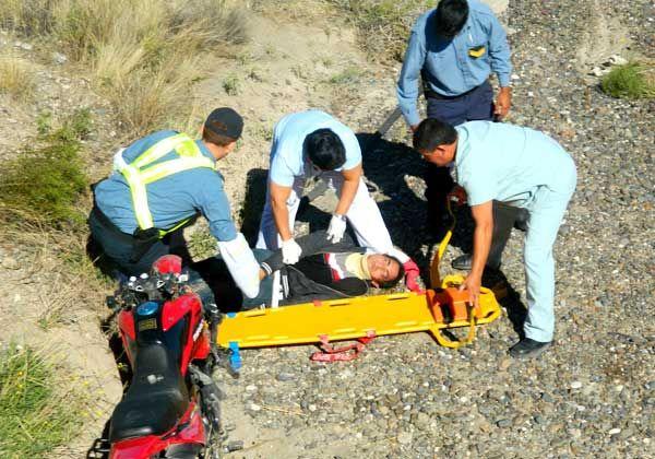 Turistas accidentados en San Antonio