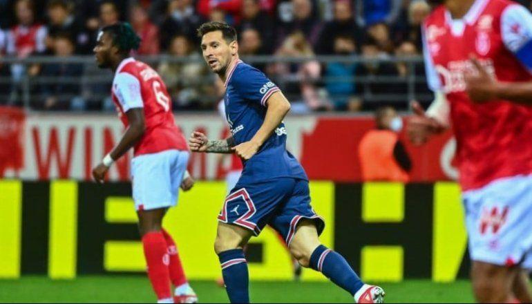 Messi debutó en PSG con una victoria ante Reims