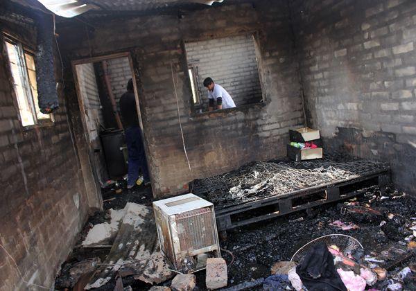 Se incendió una casa en El 30