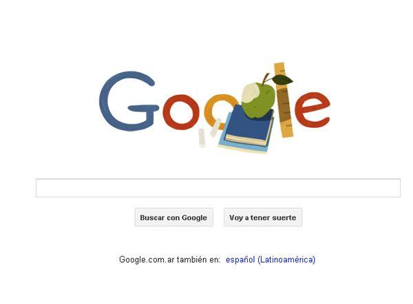 Google se sumó al festejo de los maestros