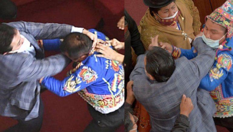 Diputados bolivianos a las piñas en pleno Congreso