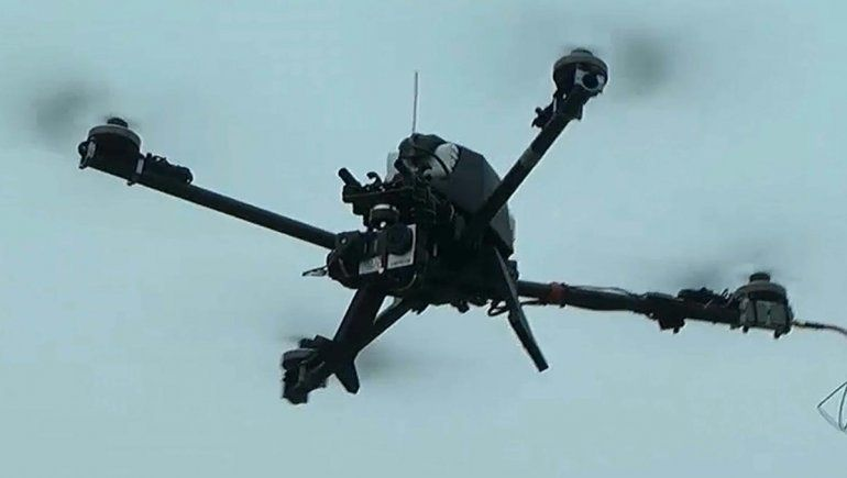Usan dron para un mapa clave en Las Perlas