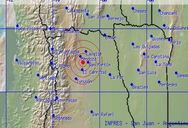 Sismo de 5 grados en la escala de Richter sacudió a Mendoza