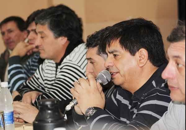 Referentes de la Mesa Sindical rionegrina en Buenos Aires