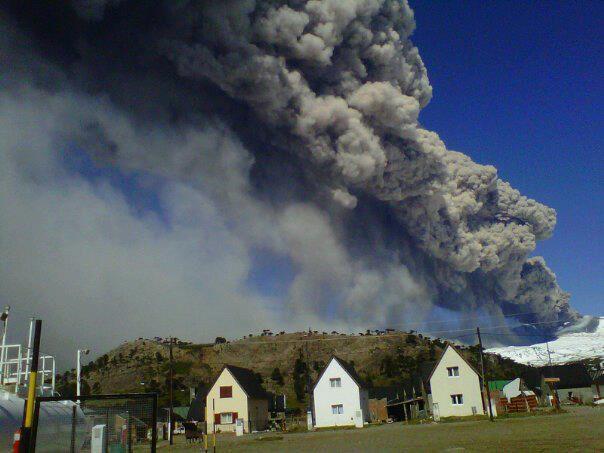 La actividad del volcán Copahue es baja